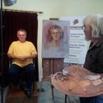 Rob Wareing oil portrait workshop