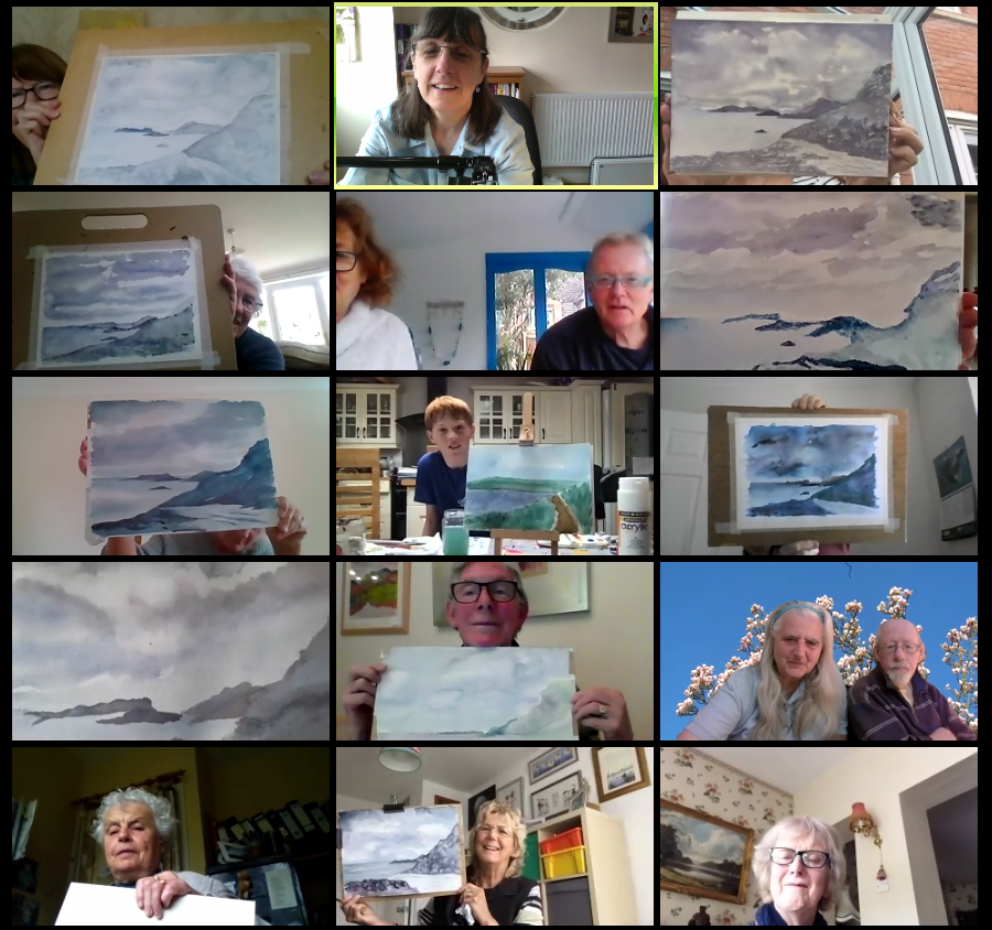 Charnwood drawing and painting zoom art demonstration with sue faulks